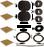 Gast Lubricated Rotary Vane Pump Model 0523 Series Rebuild Kit