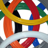 "1/4"" Teflon ® Tubing Colors Stocked are Black, Blue, Gray, Green, Orange, Natural (White), Red and Yellow"