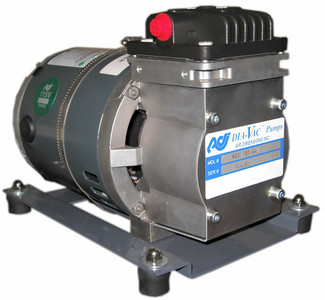 "ADI Dia-Vac Pump, SS TFE Coated Head, TFE Diaphragm, 26 LPM, 24"" Hg, 120 Vac"