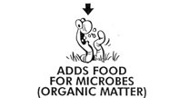 Add food for microbs (organic matter)