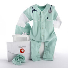 "Baby M.D. Three-Piece Layette Set in ""Doctor's Bag"" Gift Box"