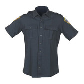 Blauer 8135 Zippered Short Sleeve Shirt