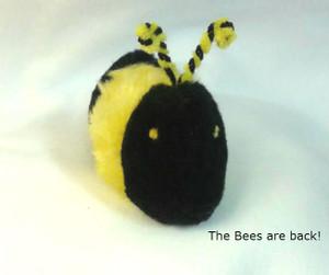 Fun catnip Bumble Bee with striped antennae.