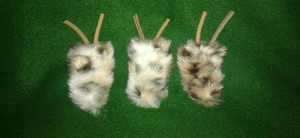 Fun fur bugs with catnip inside to entice your furry friends!