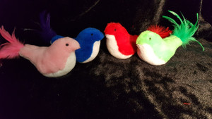 Catnip filled Birds of a Feather! Give your cat a little catch the birdie fun! (Not eligible for wholesale)