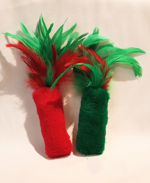 Now available, fun Fur & Feather Christmas Style! Catnip fun in holiday colors!