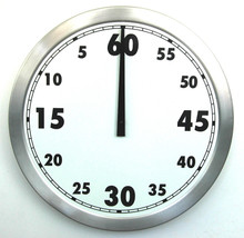 Sydney Clock Company 1 Hour Countdown Timer (500mm Diameter)