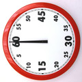 Sydney Clock Company - 1 hour Countdown Timer - 500mm Diameter - Signal Red