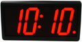 BRG POE Clock. 10cm High RED LED numerals.