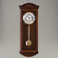 "Wall Clock - ""Pegotty"" - 4/4 Chime - Walnut Finish - Hermle"