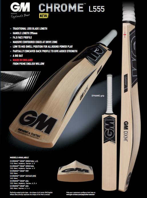 GM Chrome L555 Cricket Bat image