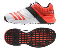 Adidas adiPower Vector WhiteSolarRed Cricket Shoe