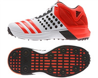 Adidas Vector Mid WhiteSolarRedBlack Cricket Shoe
