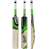 Selected Unbleached English Willow with Classic Kahuna Black/Lime Colourway.