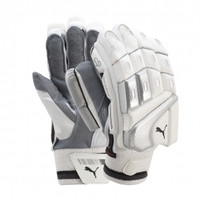 The white edition puma batting gloves are classy and sleek