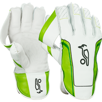 The Kookaburra 400 wicket keeping gloves features Aussie 'shorti' cuff, calf leather, unique Kookaburra catching cup and standard rubber.