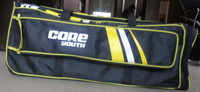 The core youth cricket bag showing the bat sleeve on the outside of the bag.