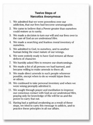 All Worksheets » Alcoholics Anonymous 12 Steps Worksheets ...