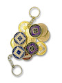 Keychain Medallion Holder Gold Finish