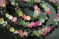 Watermelon Tourmaline Faceted Onion Briolettes
