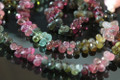 AA Natural Water Melon Tourmaline Faceted Tear Drop Briolettes, Size 5.5 - 6.5 mm