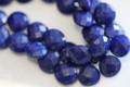 Lapis Lazuli Faceted Heart Briolettes