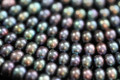AA Plus Peacock Center-drilled Button Freshwater Pearls, 7.5 mm