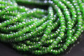 Chrome Diopside Faceted Rondelles, 3.5 - 4 mm