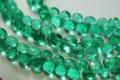 Emerald Green Quartz Faceted Onion Briolettes