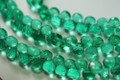 Emerald Green Quartz Faceted Onion Briolettes, 7 - 8 mm
