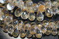 Golden Citrine Faceted Tear Drop Briolettes