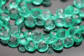 Emerald Green Quartz Faceted Heart Briolettes