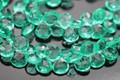 Emerald Green Quartz Faceted Heart Briolettes,