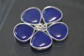 Cobalt Blue Chalcedony Smooth Heart Bezel Gemstone Sterling Silver Pendant, 17.5 x 14.5 mm