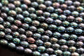 Peacock Center-drilled Rice Freshwater Pearls, 4 - 5 mm