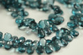 London Blue Topaz Faceted Pear Briolettes