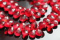 Ruby Red Quartz Faceted Pear Briolettes