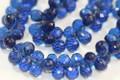 Kyanite Blue Quartz Faceted Tear Drop Briolettes