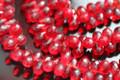 Ruby Red Quartz Faceted Tear Drop Briolettes