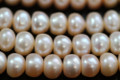 Champagne Peach Center-drilled Button Freshwater Pearls