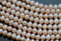Champagne Peach Center-drilled Potato Freshwater Pearls
