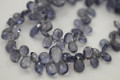 Water Sapphire Iolite Faceted Pear Briolettes