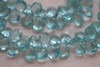 Aquamarine Blue Quartz Faceted Pear Briolettes