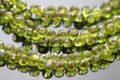 Peridot Green Quartz Faceted Onion Briolettes