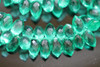 Emerald Green Quartz Faceted Dew Drop Briolettes