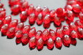 Ruby Red Quartz Faceted Dew Drop Briolettes