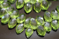 Peridot Green Quartz Faceted Marquise Briolettes