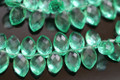 Emerald Green Quartz Faceted Marquise Briolettes