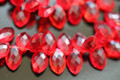 Ruby Red Quartz Faceted Marquise Briolettes
