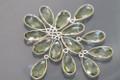 Amethyst Green Quartz Faceted Pear Bezel Gemstone Sterling Silver Pendant